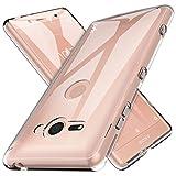 Cover Sony Xperia XZ2 Compact Custodia, LK Case in Morbido Silicone di Gel Antigraffio in TPU Ultra [Slim Thin] Cover Protettiva - Trasparente