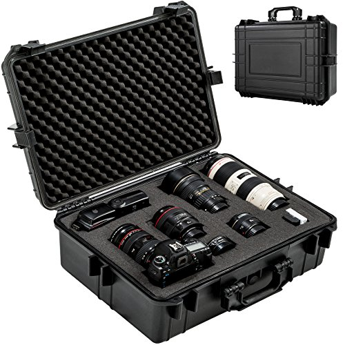 TecTake 402412 TecTake Valigetta per macchina fotografica con volume 35 litri, 4 cuscini in...