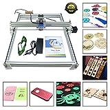 HUKOER 40X50 CM DIY CNC Laser Engraver Kits 12 V USB Desktop Laser Graviermaschine, einstellbare Laser Power Drucker Carving & Schneiden Holz Kunststoff Hörner Brieftasche Telefon Shell (500MW)