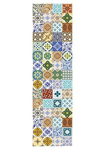 Huella Deco, Maiolica, Tappeto, Multicolore, 70 x 270 cm