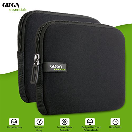 Gizga Essentials GE-6 6-inch Sleeve for Amazon Kindle E-Reader Paperwhite (Black) 14