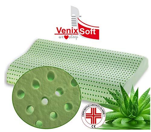 Venixsoft cuscino per letto ortopedico in memory foam Anti Soffoco Terapeutico in linfa DI ALOE VERA...