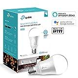 TP-Link Ampoule LED connectée WiFi, culot E27, lumière blanche d'ambiance, 7W, Fonctionne avec Amazon Alexa, lumière blanche personnalisable - LB100