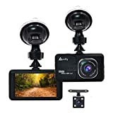 "Accfly Car Dash Cam 1080P 3.0"" HD Dashboard Video Camera Recorder with Rear Camera 170° Wide Angle Lens Loop Recording Motion Detection Parking Guard G-Sensor"