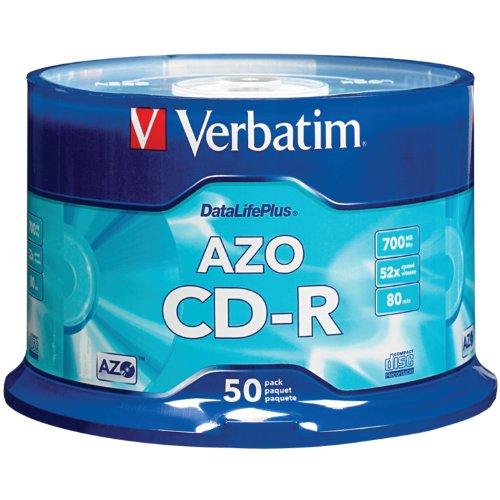 Verbatim 700MB 52x DataLifePlus Recordable Disc CD-R, 50-Disc Spindle 94523