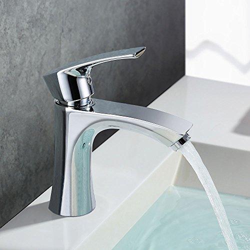 HOMELODY Grifo Lavabo Anti-ruido Grifo Baño para Baño Monomando Lavabo Grifo de Cuenca Griferia Lavabo y Baño Aireador Desmontable Ahorro del Agua
