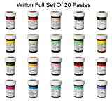 Wilton Complete Set of 20 Food Gel Paste Colours. Perfect for Every Cake Decorator
