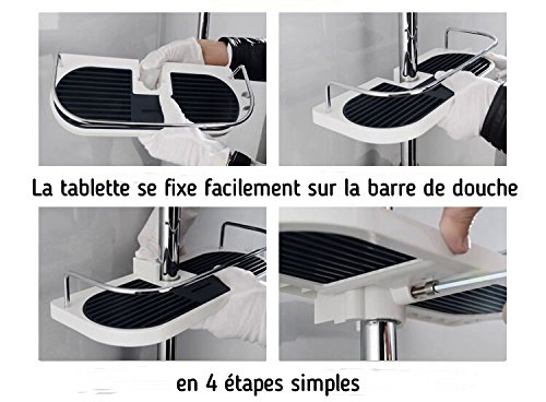 nolain tag re douche de rangement tablette porte savon ou shampoing tout electromenager. Black Bedroom Furniture Sets. Home Design Ideas