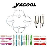Yacool® Cheerson 2 piezas y CX-10 parte blanco hoja cubierta de Protector de motores con 16 piezas hélice lámina azul verde rojo morado