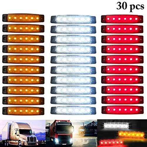 Fansport 30PCS Indicatore di Direzione Laterale del Camion 6 LED 12V Luce di Rimorchio Ambrata del...