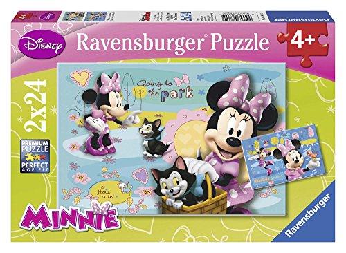 Ravensburger 08862 1 - Minnie Mouse, Puzzle 2x24 Pezzi