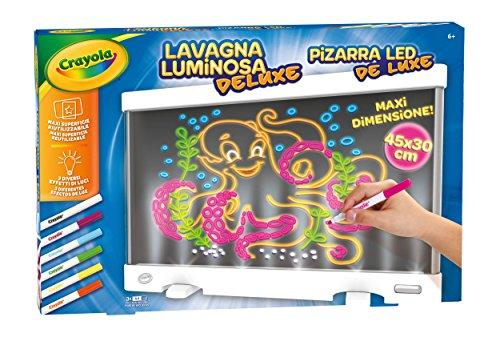 CRAYOLA Lavagna Luminosa Deluxe Maxi Superficie Riutilizzabile per Colorare, 25-7246