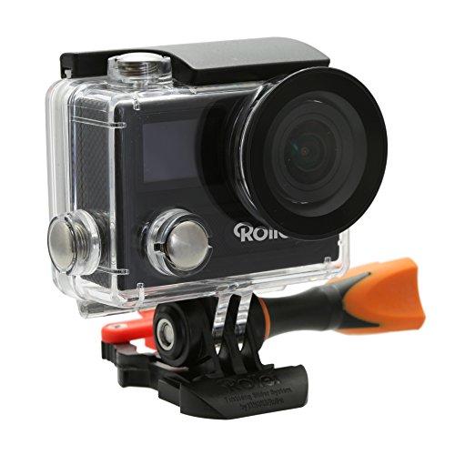 Rollei Actioncam 430 - Cámara de Acción WiFi con características de alto rendimiento y resolución de vídeo 4K, 2K y Full HD y Slow Motion (cámara lenta), color negro