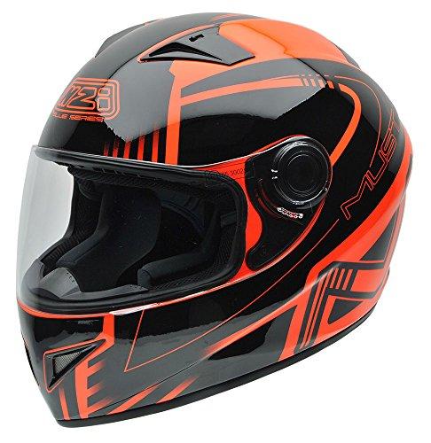 Cascos de moto baratos NZI 150196G677 Negro y Naranja Flúor