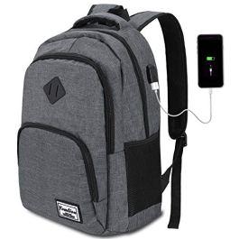 YAMTION Zaino PC 17.3/15.6 Pollici Zaino per Laptop con Porta USB Ufficio Scuola Viaggio Impermeabile