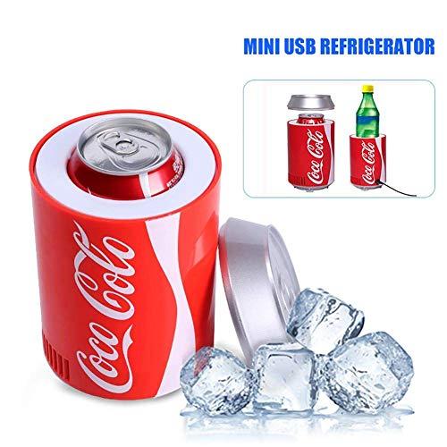 Mini USB Frigorifero Frigorifero Portatile per Auto, Coca-Cola Bevanda Bevande Cooler, Desktop Beer...