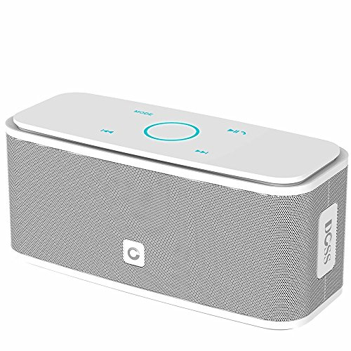 DOSS SoundBox Bluetooth Lautsprecher Kabellose Portabler 12W Touch Lautsprecher mit 12-Stunden Spielzeit & Dual-Treiber Wireless Speakers mit TF Karte, Mikrofon und Reinem Bass【Weiße】