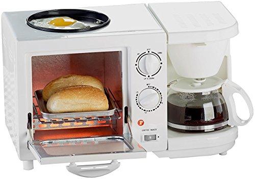 Rosenstein & Söhne Frühstückscenter: Kompakter 3in1-Frühstücksofen, 1.150 Watt (Miniküche)
