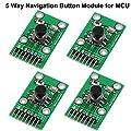 Innovateking-EU 4pcs Modulo di Navigazione Modulo Uno Joystick Module per MCU AVR Gioco Five Direction 5D Rocker Joystick Independent Keyboard