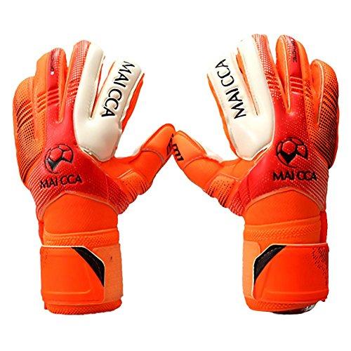 Irahdbowen guanti da portiere professionali a taglio negativo con protezione per le dita, per adulti...