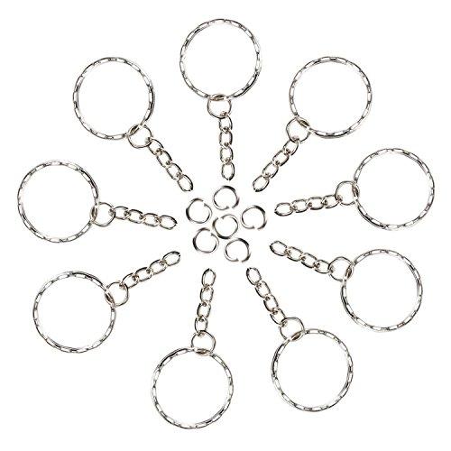 Foonii 100 pezzi Portachiavi Key chain portachiavi Lotto 25 mm cerchio piatto Diametro interno...