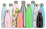 Chilly's Bottles Double Walled, Vacuum Insulated and Stainless Steel Reusable Water Bottle, Purple - 500ml