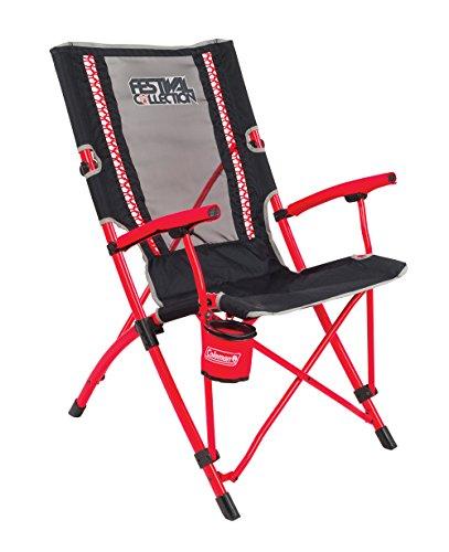 Coleman Campingstuhl Bungee Chair, leichter Klappstuhl mit stabilem Stahlgestell, Campingstuhl klappbar, Faltstuhl für Festivals, Angeln oder im Garten