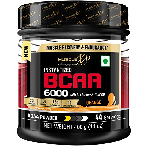 Muscle XP Instantized BCAA 6000 with L-Alanine and Taurine -44 Servings, 400 g (Orange)
