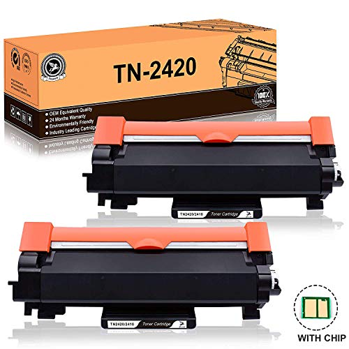 FITU WORK TN2420 TN2410 (con Chip) Cartuccia Toner Compatibile per Brother MFC-L2710DW MFC-L2710DN...