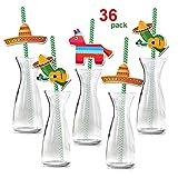 Pack Vasos Cactus Para Fiestas Pajitas Con Diseños