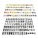 Caja de luz letras simbolos A4, JIM'S STORE 96 letras negras y 85 emojis colorido / símbolos para caja luz ideal für die Dekoration Ihres Hauses, Hochzeit, Geburtstage und andere besondere Ereignisse