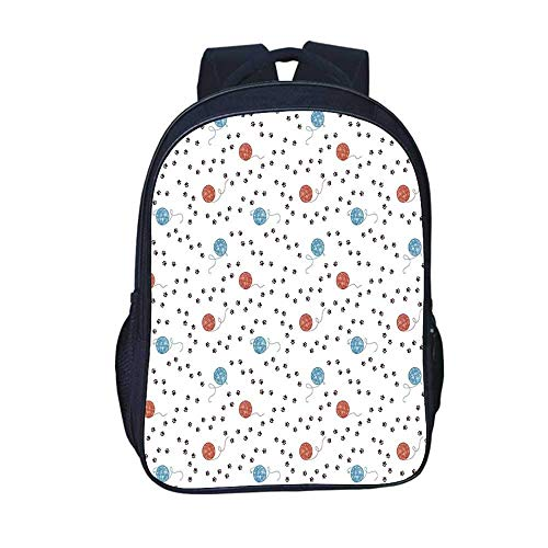 Kids Backpacks Modern Decor Durable Backpack,Geometrical Sketchy Abstract Image with Colorful...