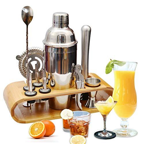 AYAOQIANG Cocktail Shaker Set di 12 Pezzi, Kit Attrezzatura Bar in Acciaio Inox, Shaker 750 ml,...