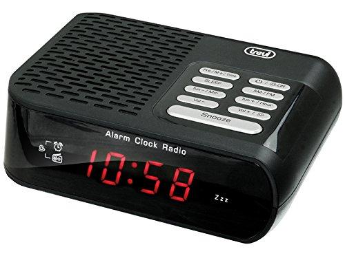 Trevi RC 827 D Radiosveglia AM/FM, Nero, 14x4.4x11.4 cm