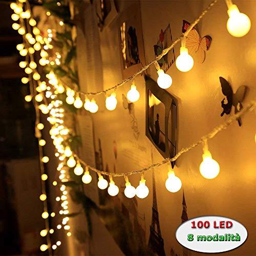 Innoo Tech Catena Luminosa con Spine Femmine e Maschi 12M 100 Led Luci Stringa Led Luci Decorative...