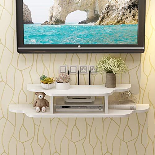 Mobile TV/mensola a Muro Console TV Supporto TV Router Set Top Box Ripiano multimediale Mensola...