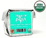 El orgullo de la India - Orgánico Menta Infusión, 1 libra hoja entera