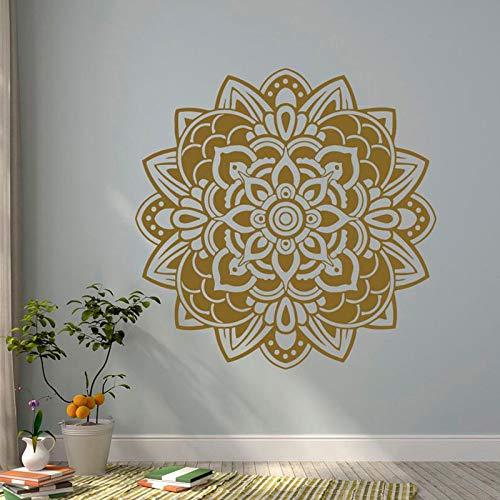 Mandala Adesivo murale Vinile Artista Residenza Decorazione Camera Studio Murale Yoga Loto Indiano...