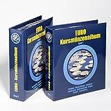 Leuchtturm Vordruckalbum für Euro-Kursmünzensätze in 2 Bänden   Aufbewahrung für Kursmünzensatz aus Deutschland, Portugal, Spanien & viele andere Euro-Länder