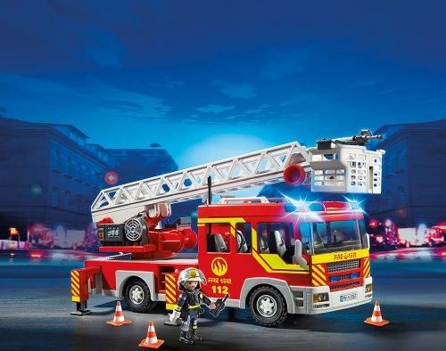 PLAYMOBIL 5362 – Feuerwehr-Leiterfahrzeug mit Licht und Sound - 2