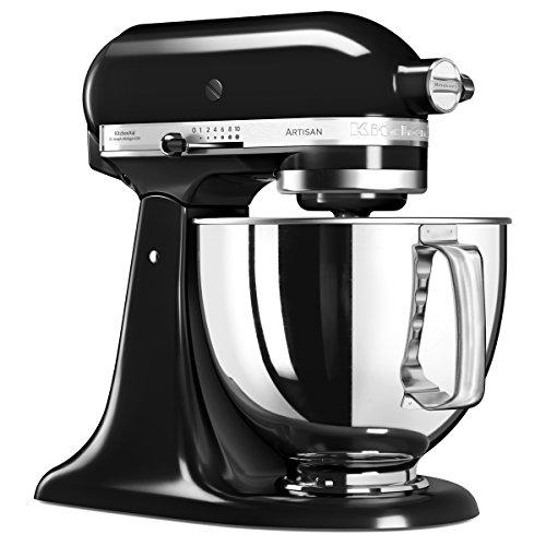 KitchenAid 5KSM125 Robot da cucina, 4.8 L, 300 W, Nero