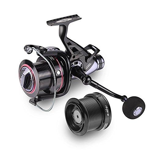 Carp Fishing mulinelli Big Pit Baitrunner doppio freno 10+ 1cuscinetti a sfera spinning mulinello HQ8000