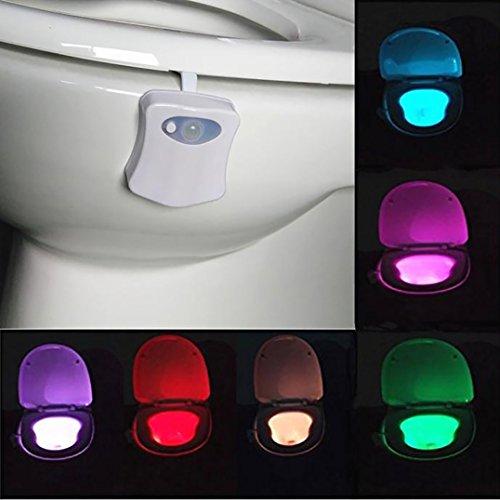Jimmackey Rilevamento del corpo Automatico LED Motion Sensor Luce Notturna Lampada Toilet Bowl Bagno