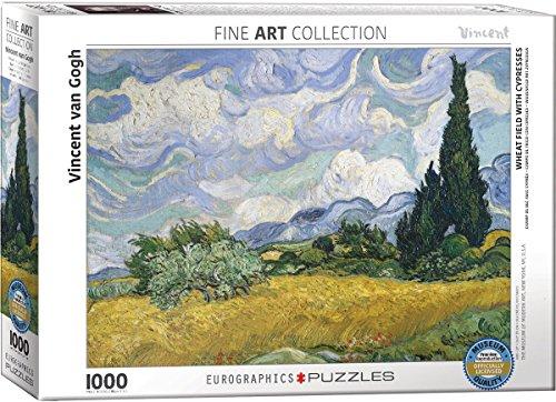 Eurographics 6000–5307campo di grano con cipressi puzzle da pezzi