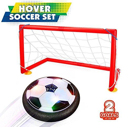 Giocattoli del Ragazzo 5-10 anni, Joy-Jam Hover Ball Goal Set Air Soccer Calcio Disco Electric...