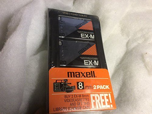 Bonus Pack of Two Maxell P6-120 EX-M 8mm tapes, and Library Storage Case