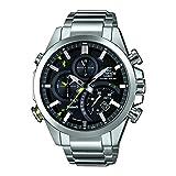 Casio Orologio Cronografo Quarzo Uomo con Cinturino in Acciaio Inox EQB-500L-1AER