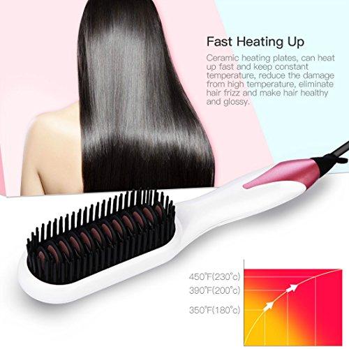 Spazzola per capelli elettrica,Lisciante Capelli,spazzola capelli professionale,piastra capelli...