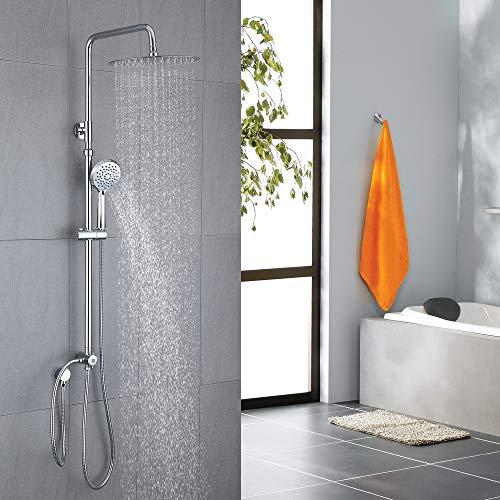 Homelody Duschset Duschsystem Regenduschset Duschsäule mit Kopfbrause Handbrause set für bad