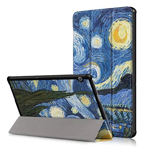 Acelive Cover Huawei T5 10, Slim Custodia Case Protettiva in pelle PU per Huawei Mediapad T5 10 10.1...
